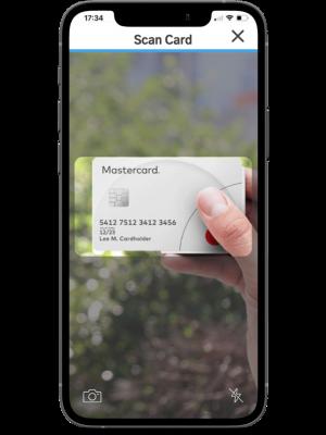 Mastercard SimplyPayMe card scanner